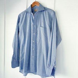 GITMAN Bros Classic Button Front Dress Shirt 15.5